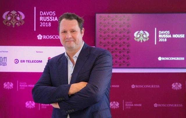 Dirk Ahlborn PDG de Hyperloop Transportation Technologies  (HTT), à la Maison Russe du Forum de Davos