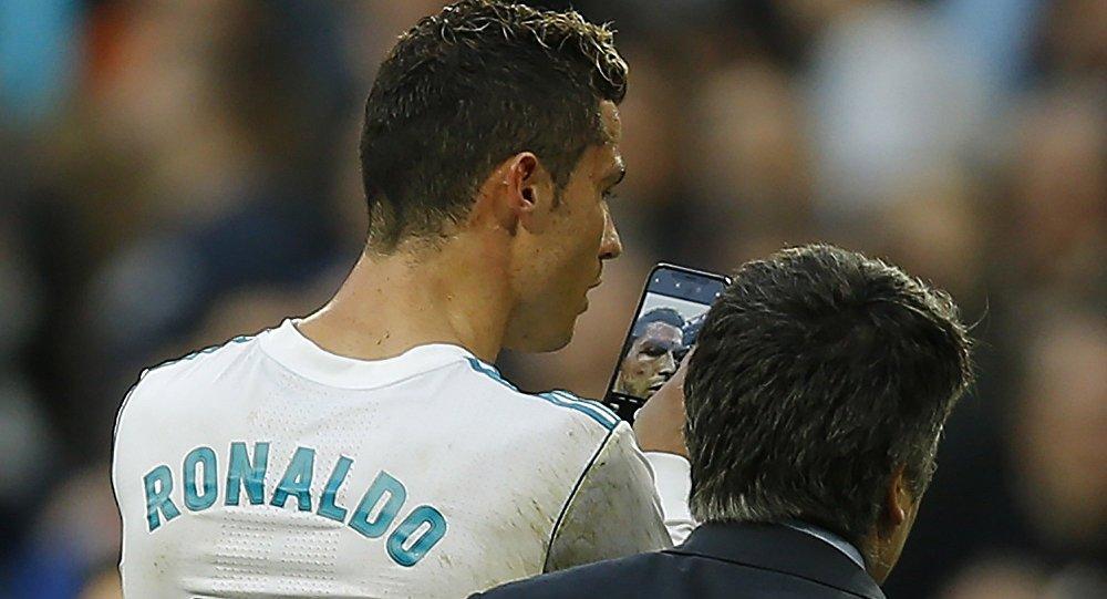 Cristiano Ronaldo blessé au visage