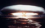Un test nucléaire français à Mururoa (1971)