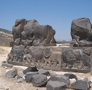 Les ruines du temple d'Aïn Dara