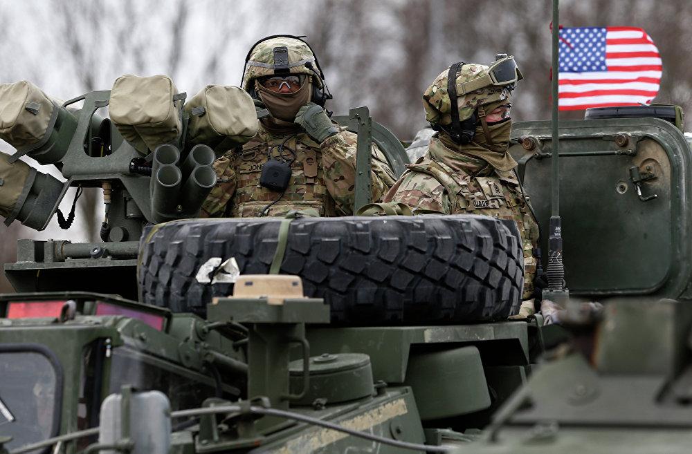 Des soldats du 2-ème régiment américain de cavalerie blindée en Lituanie