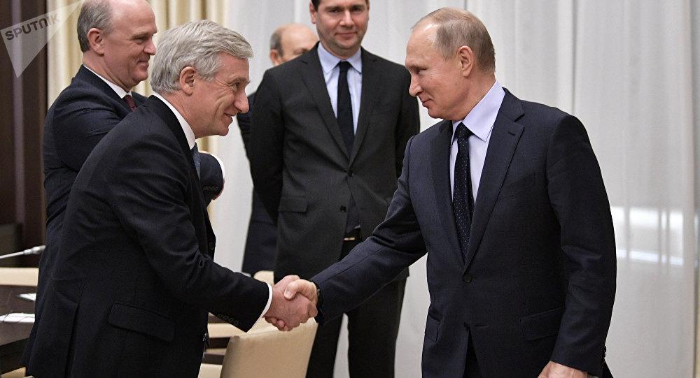 Vladimir Poutine reçoit des membres du Conseil économique de la CCIFR