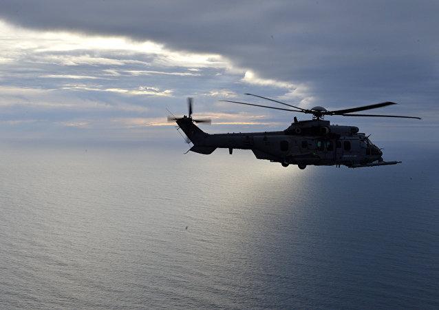 Hélicoptère français. Image d'illustration.