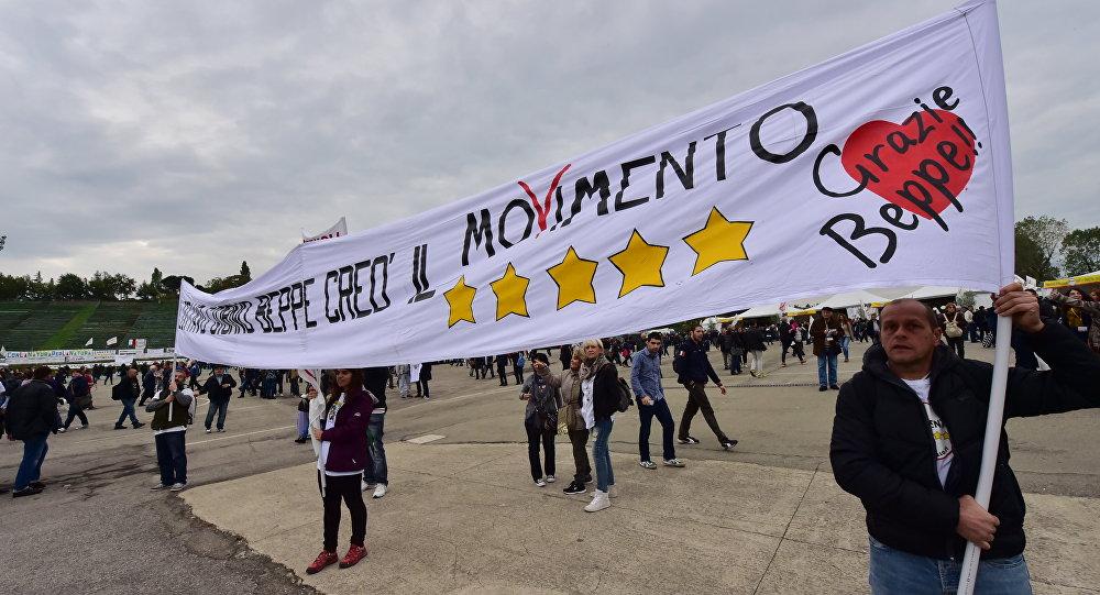 Le Mouvement 5 étoiles que beaucoup en Italie qualifient de parti pro-russe