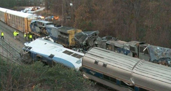 Collision de trains en Caroline du Sud