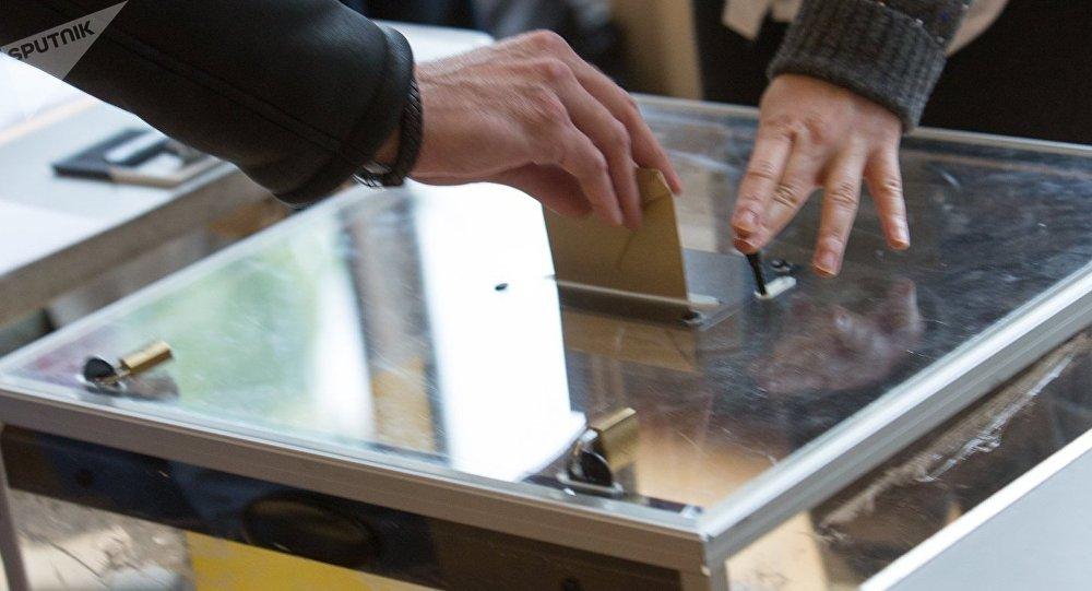 Un bureau de vote français