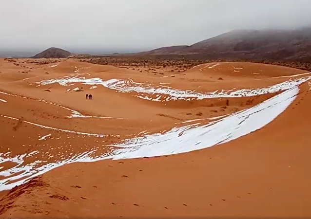 Neige au Sahara (archives)