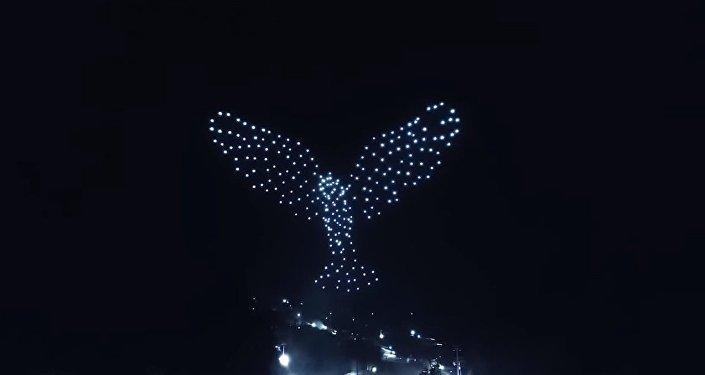 Un spectacle incroyable de drones lors de la cérémonie d'ouverture des JO 2018