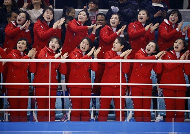 Les pom-pom girls nord-coréennes