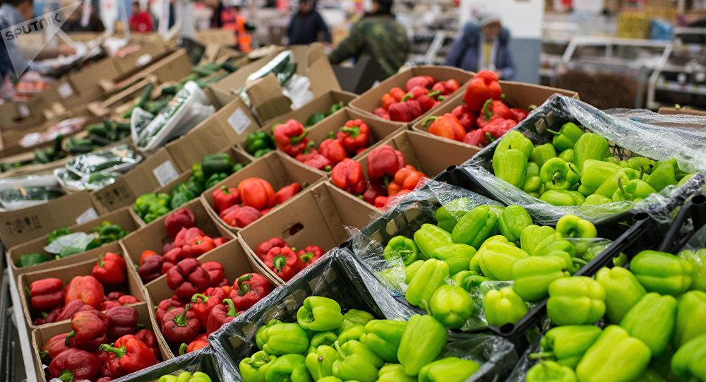 Légumes turcs dans des magasins russes