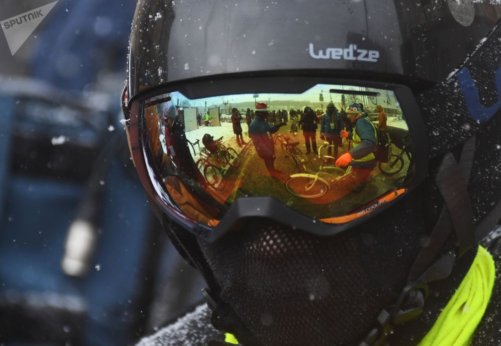 La 3e édition du défilé cycliste hivernal de Moscou
