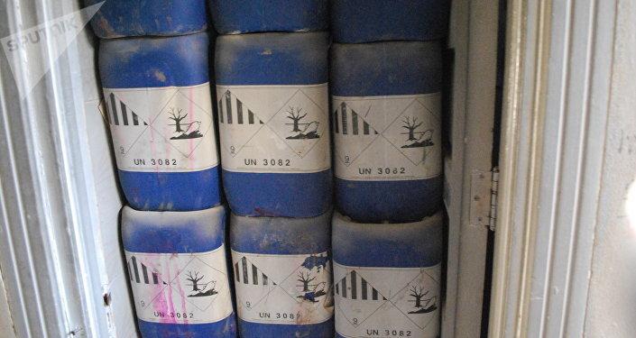 Usine de production d'armes chimiques en Alep-Est. Image d'illustration