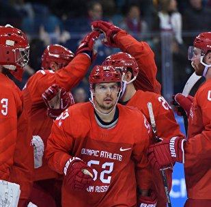 Les joueurs de hockey russes