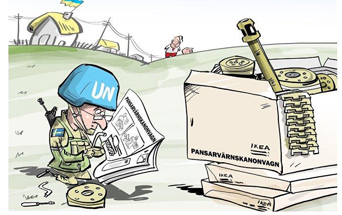 Bientôt dans le Donbass des militaires suédois