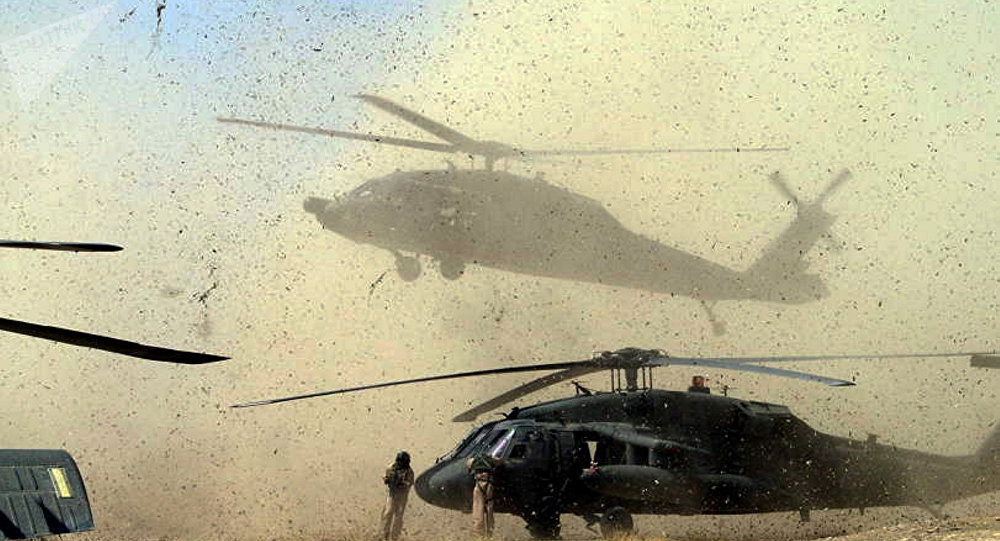 Des hélicoptères américains