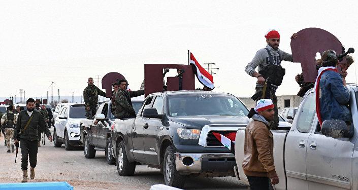 Miliciens syriens pro-gouvernementaux
