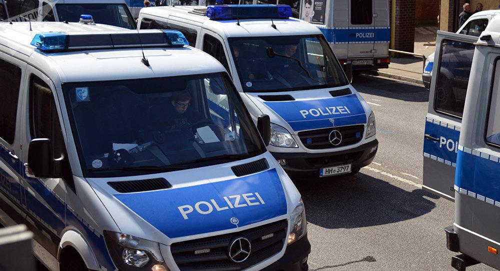Des véhicules de la police allemande