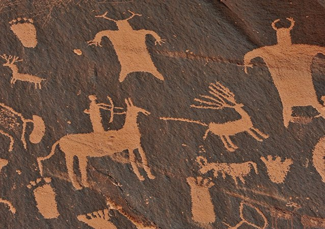 Des peintures rupestres (image d'illustration)