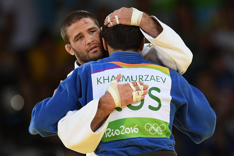 Travis Stevens (USA) et Khasan Halmurzaev (Russie)