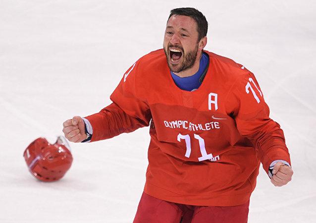Ilya Kovalchuk après la finale à Pyeongchang
