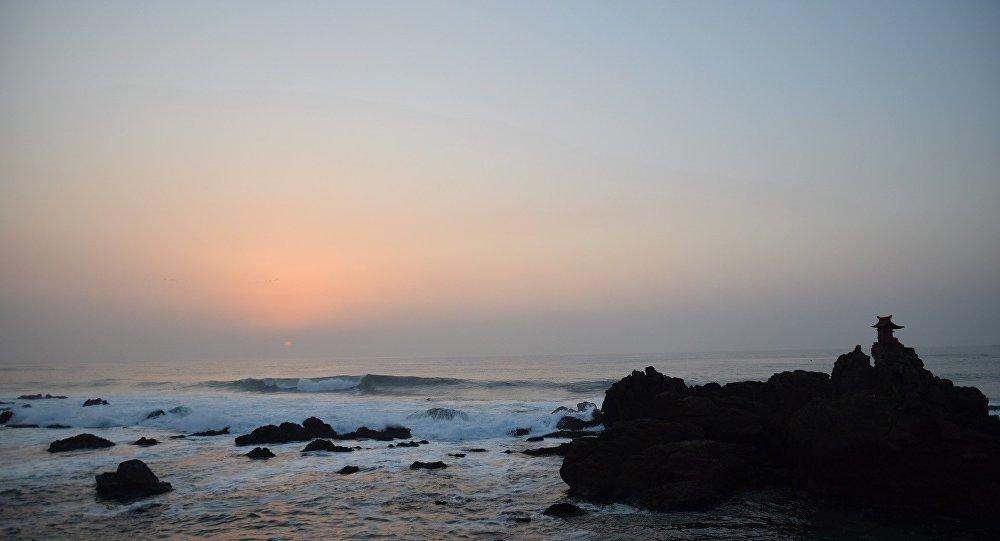 L'île japonaise d'Isohara dans le Pacifique