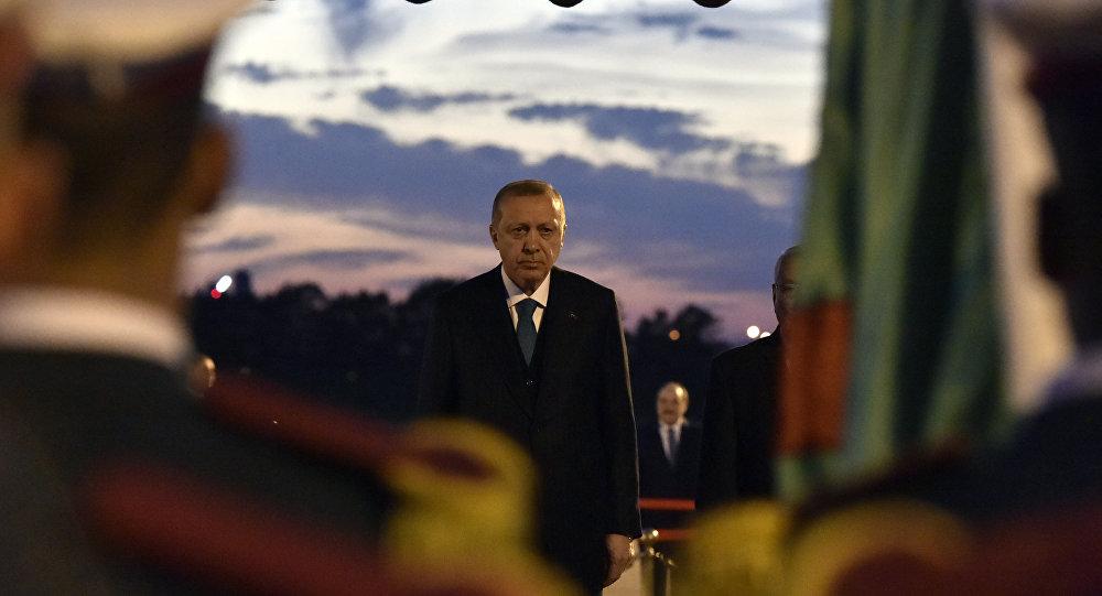 Erdogan lors de sa visite en Algérie