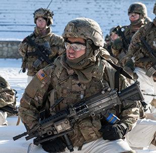 Des militaires américains lors des exercices de l'Otan en Lettonie