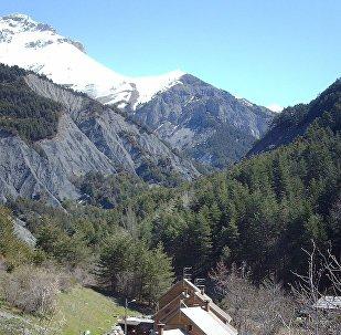 Les Alpes françaises dans le secteur d'Entraunes