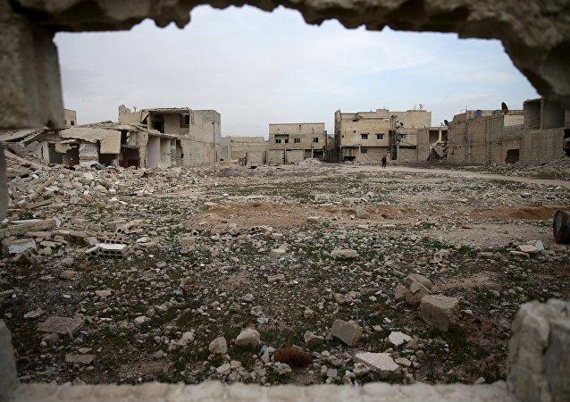 La ville syrienne de Douma, en Ghouta orientale