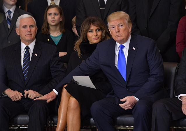 Donald Trump, Pence, Melania