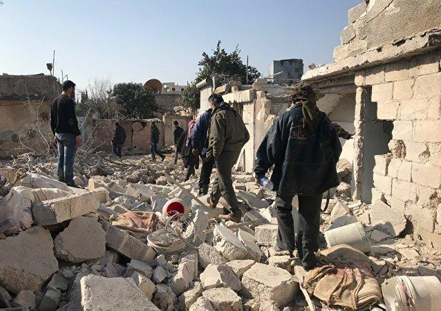Dans le canton d'Afrine, en Syrie