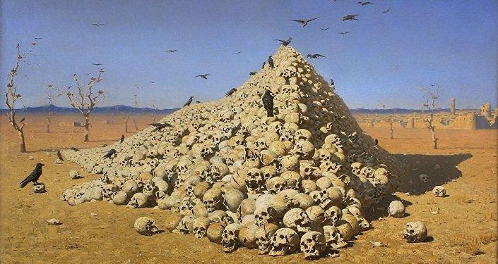 L'Apothéose de la guerre, par Vassili Verechtchaguine