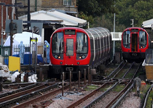 La station de métro Parsons Green à Londres après l'attentat du 15 septembre 2017