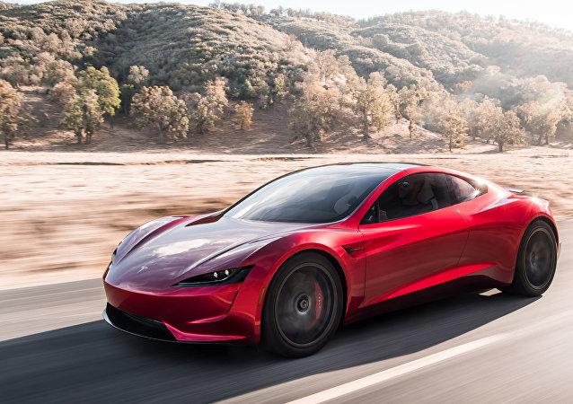 Une Tesla Roadster