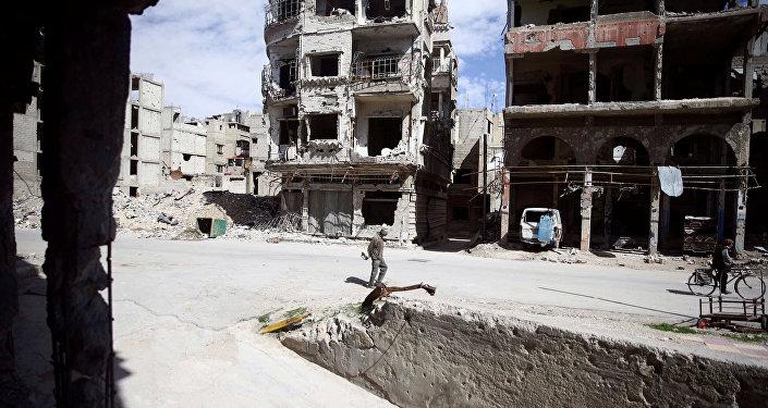 Dans la ville de Douma, Ghouta orientale, le 9 mars 2018