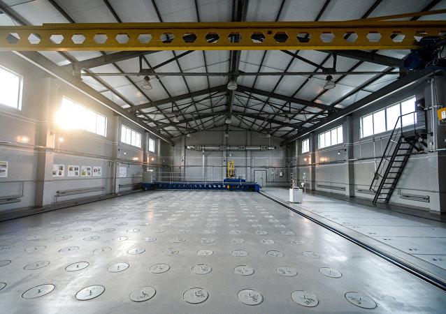 Cellules dans un complexe d'installations et l'élimination des déchets radioactifs par la centrale nucléaire de Tchernobyl