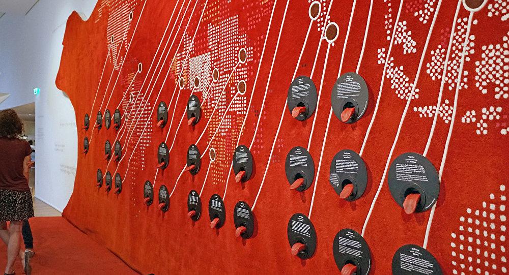 Le mur des langues (Musée de l'Homme, Paris)