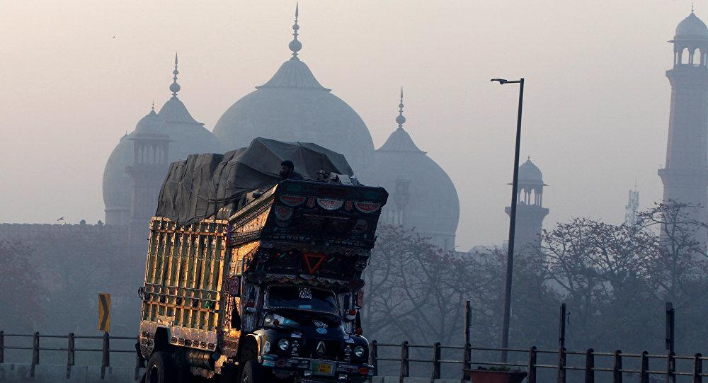La mosquée Badshahi à Lahore, au Pakistan