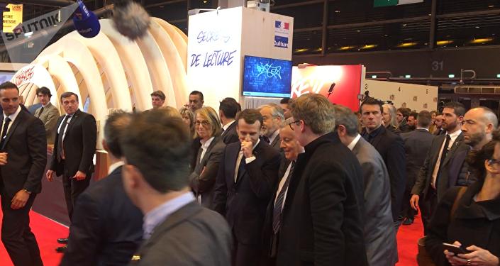 Macron au Salon du livre, 15 mars 2018