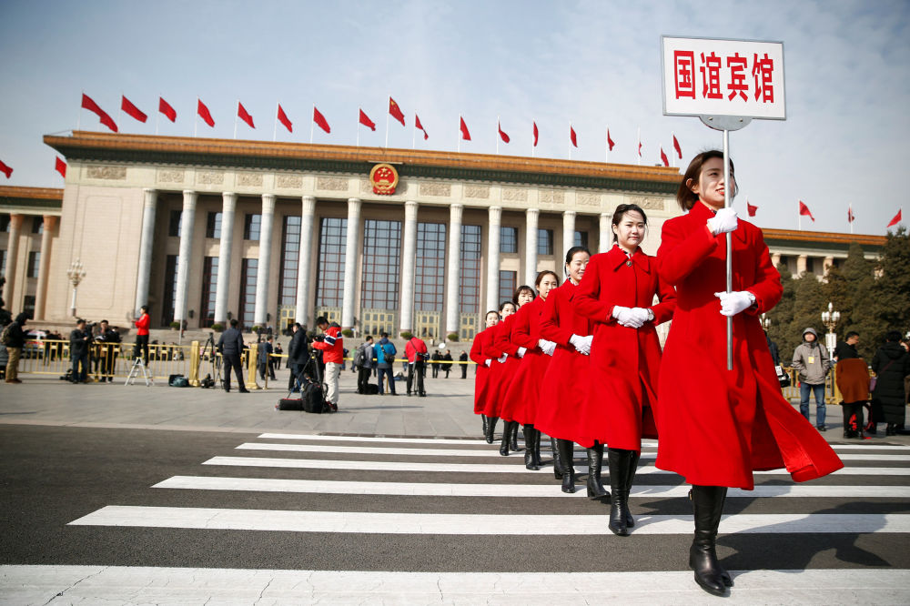 Hôtesses de la session de l'Assemblée nationale populaire de Chine