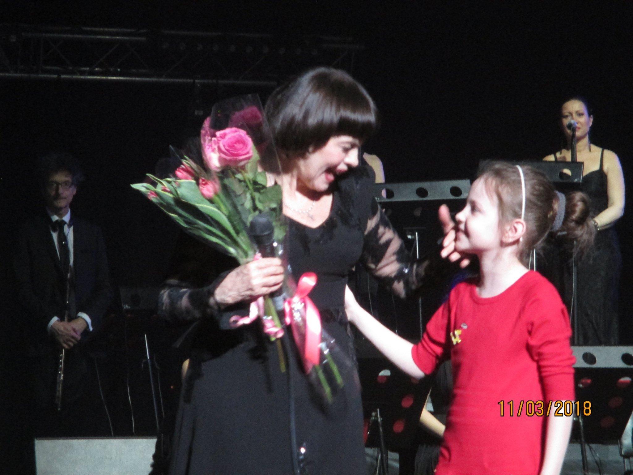 Le concert de Mireille Mathieu au Palais du Kremlin, Moscou