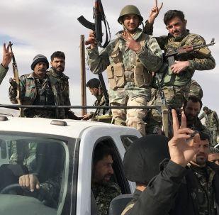 Militaires syriens dans la Ghouta orientale
