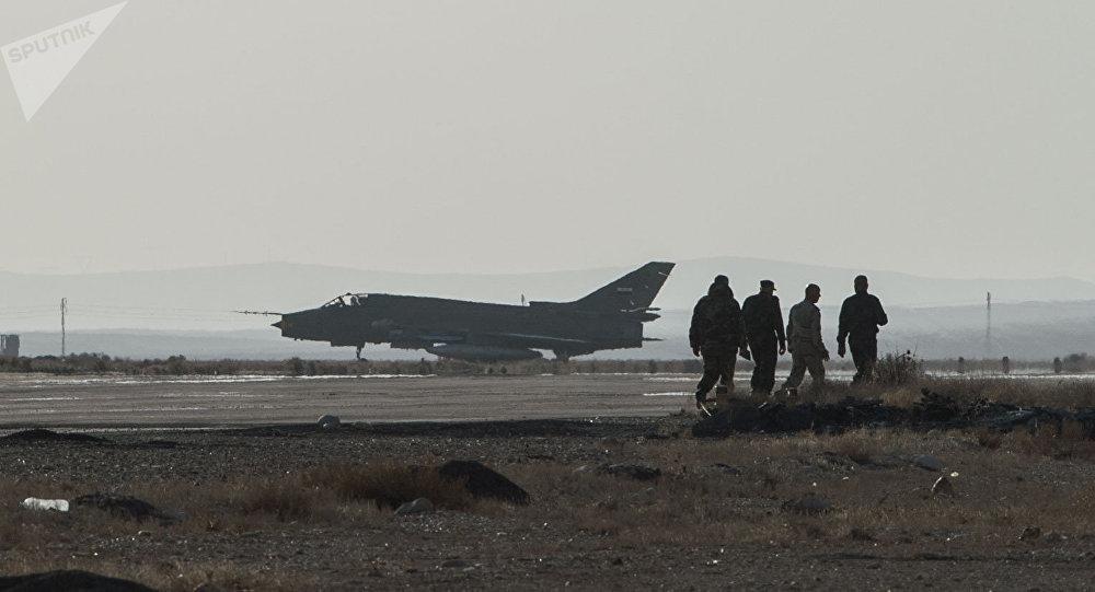 Un avion de l'armée de l'air syrienne. Photo d'archive