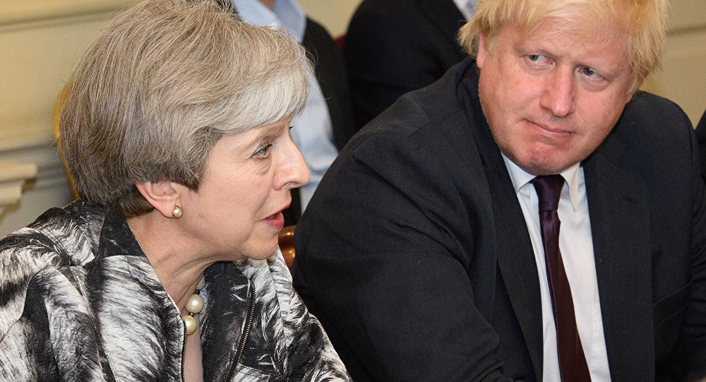 Theresa May et Boris Johnson