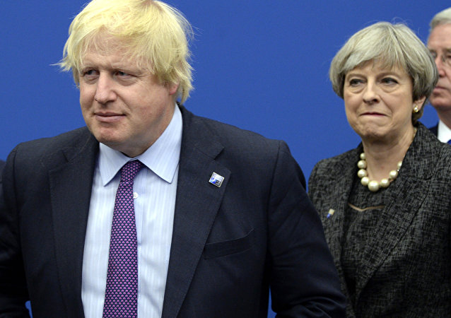 Boris Johnson et Theresa May