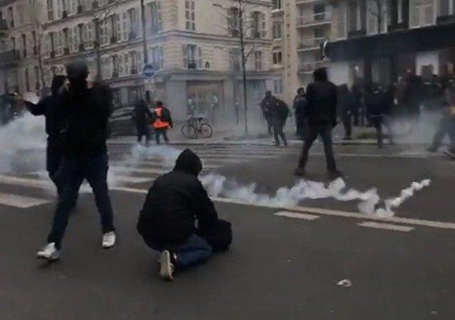 Manifestation contre les réformes de Macron à Paris