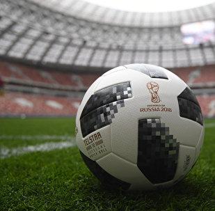 Un ballon officiel de la Coupe du monde 2018
