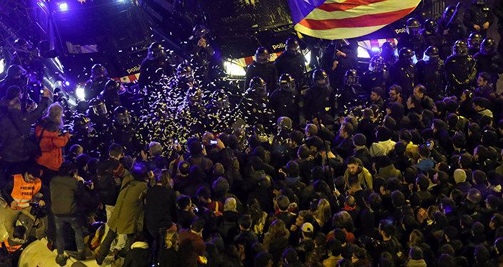 Affrontements à Barcelone