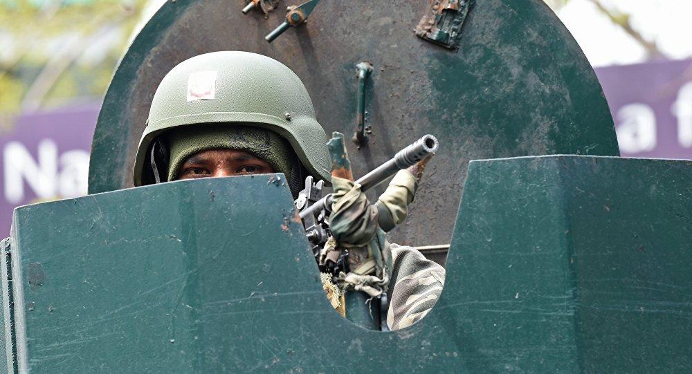 Un soldat de l'Indian Border Security Force