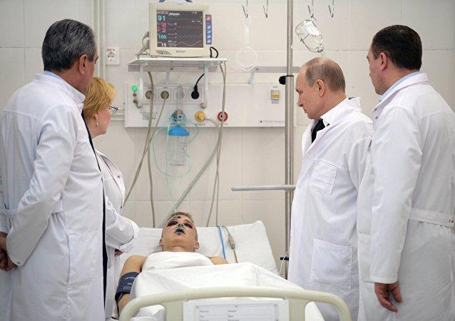 Vladimir Poutine en visite à Kemerovo